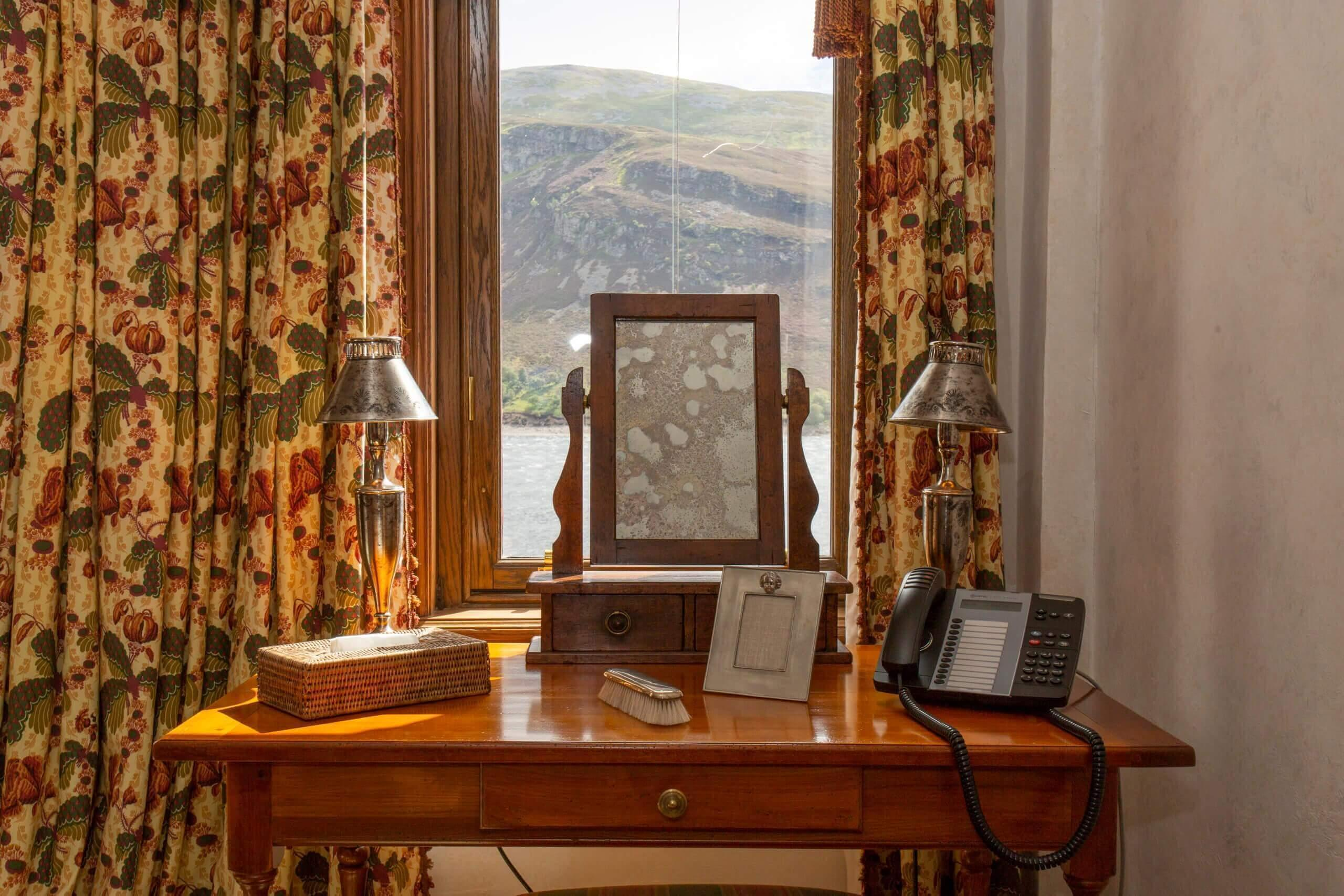 Gate Lodge bedroom with incredible views