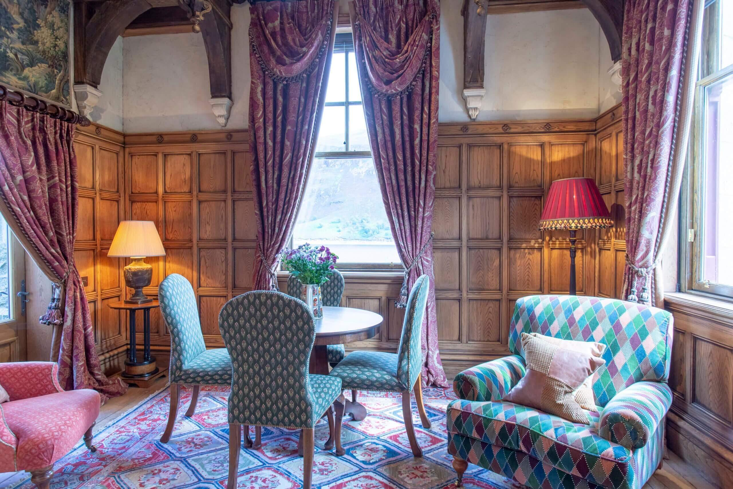 View from the drawing room within the Gate lodge
