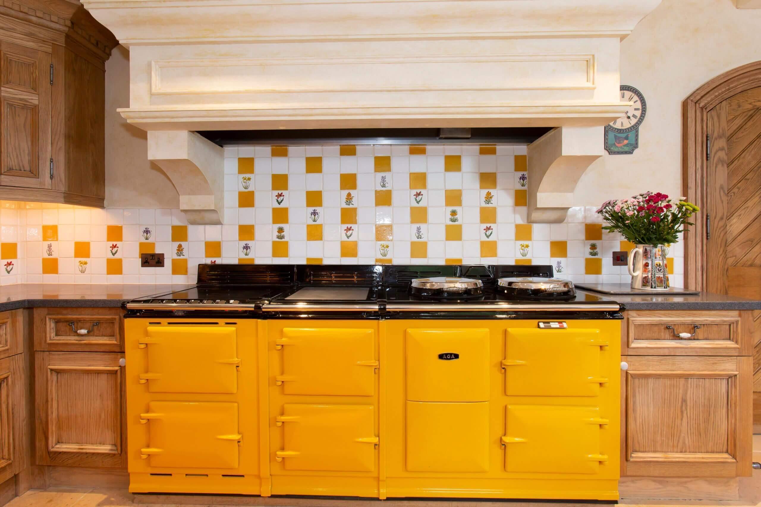 Triple Aga in the Gate Lodge kitchen