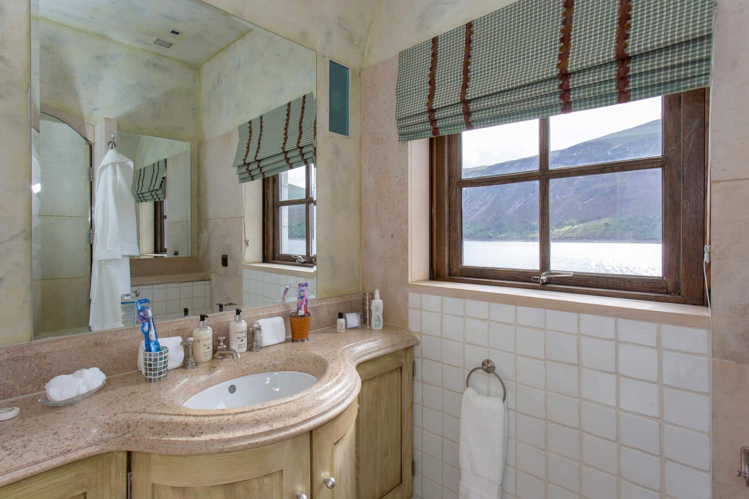 Loch view from the en suite bathroom